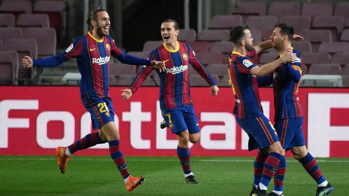 Der FC Barcelona jubelt über den Heimsieg gegen Athletic Bilbao