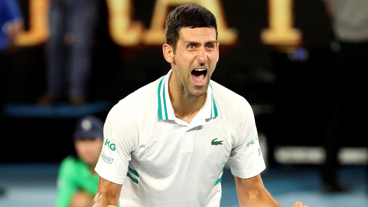 Her kan Novak Djokovic endelig slippe jubelen løs.