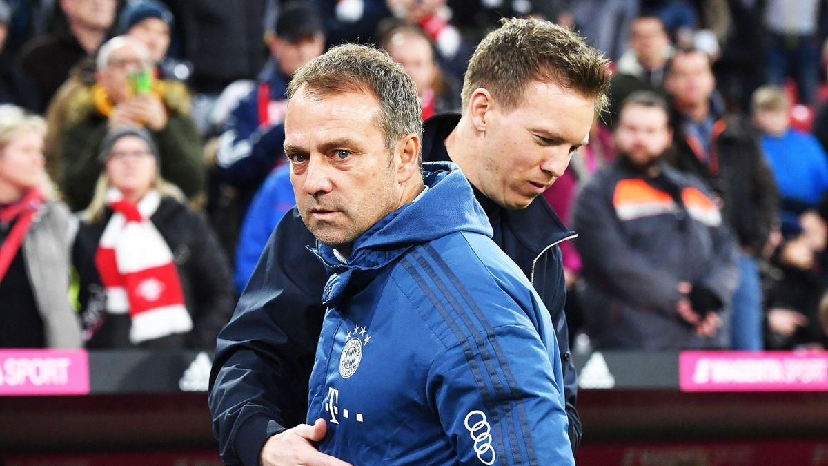 Der aktuelle und der kommende Bayern-Trainer: Hansi Flick und Julian Nagelsmann