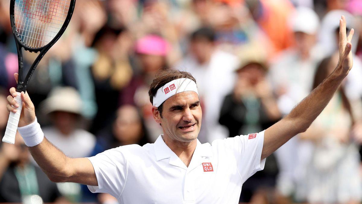 Roger Federer beim ATP Masters von Indian Wells
