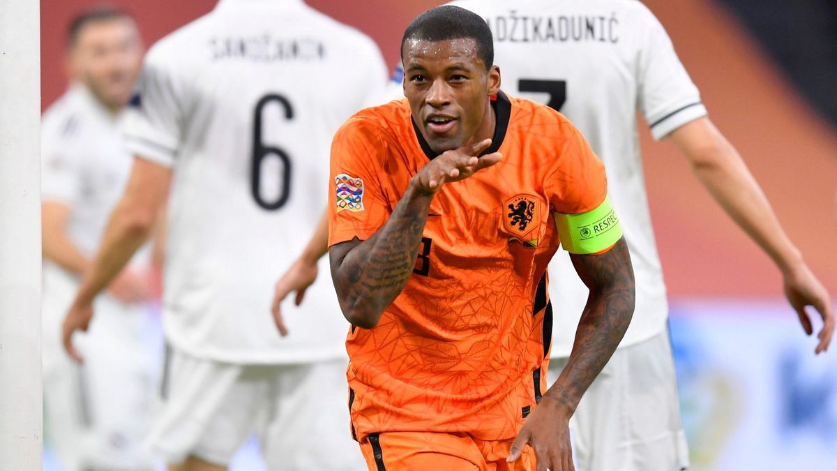 Georginio Wijnaldum (Pays-Bas) contre la Bosnie-Herzégovine / Ligue des Nations
