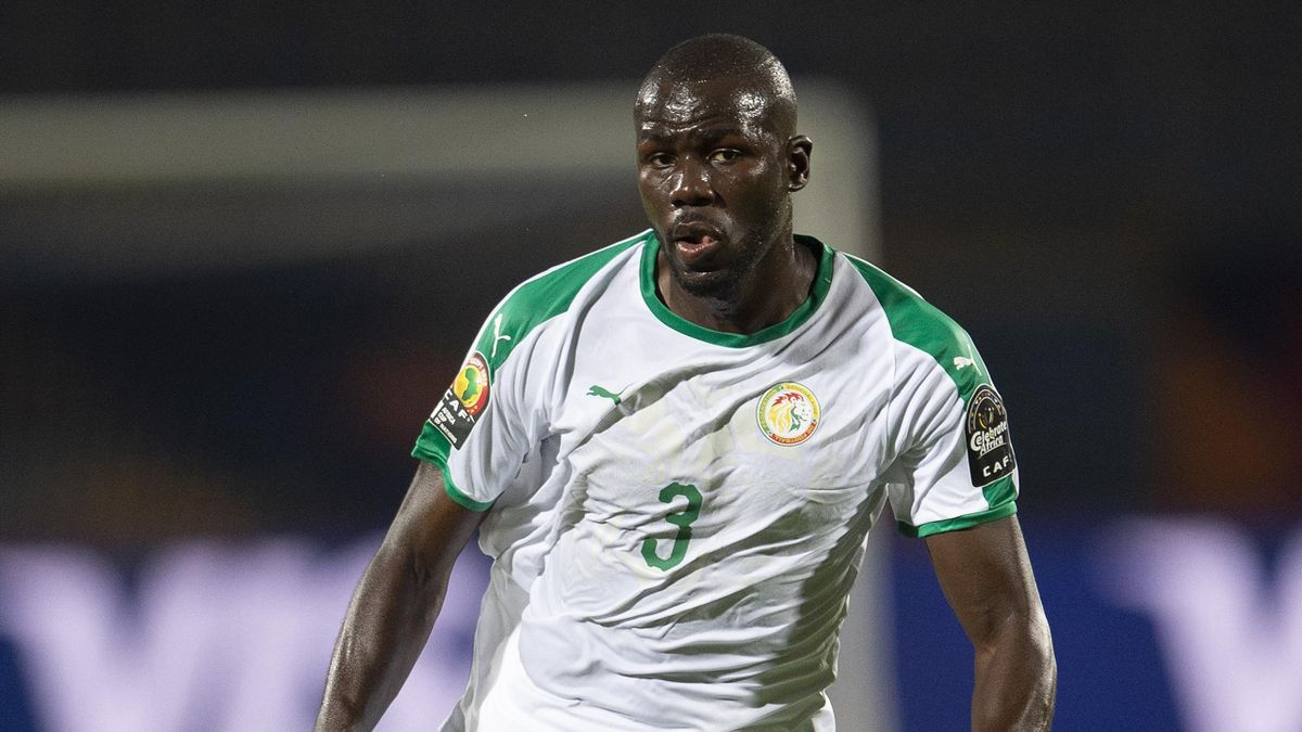KALIDOU KOULIBALY of Senegal during the 2019 Africa Cup of Nations Group C match between Senegal and Tanzania at 30th June Stadium on June 23, 2019 in Cairo, Egypt.