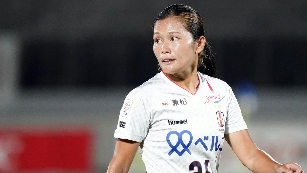Nahomi Kawasumi lors d'un match opposant Urawa à Kobe Leonessa, le 21 septembre 2020
