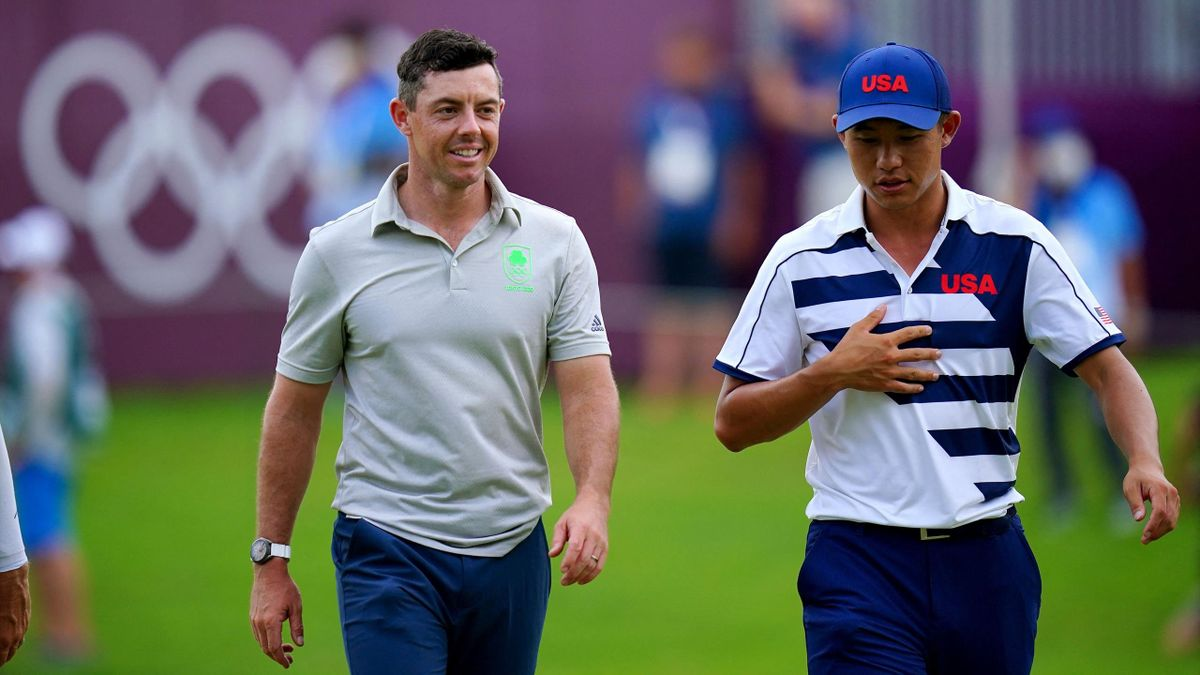 Rory Mcilroy og Collin Morikawa
