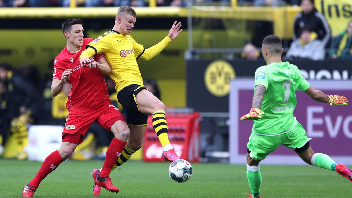 Borussia Dortmund - Union Berlin: Haaland in Aktion