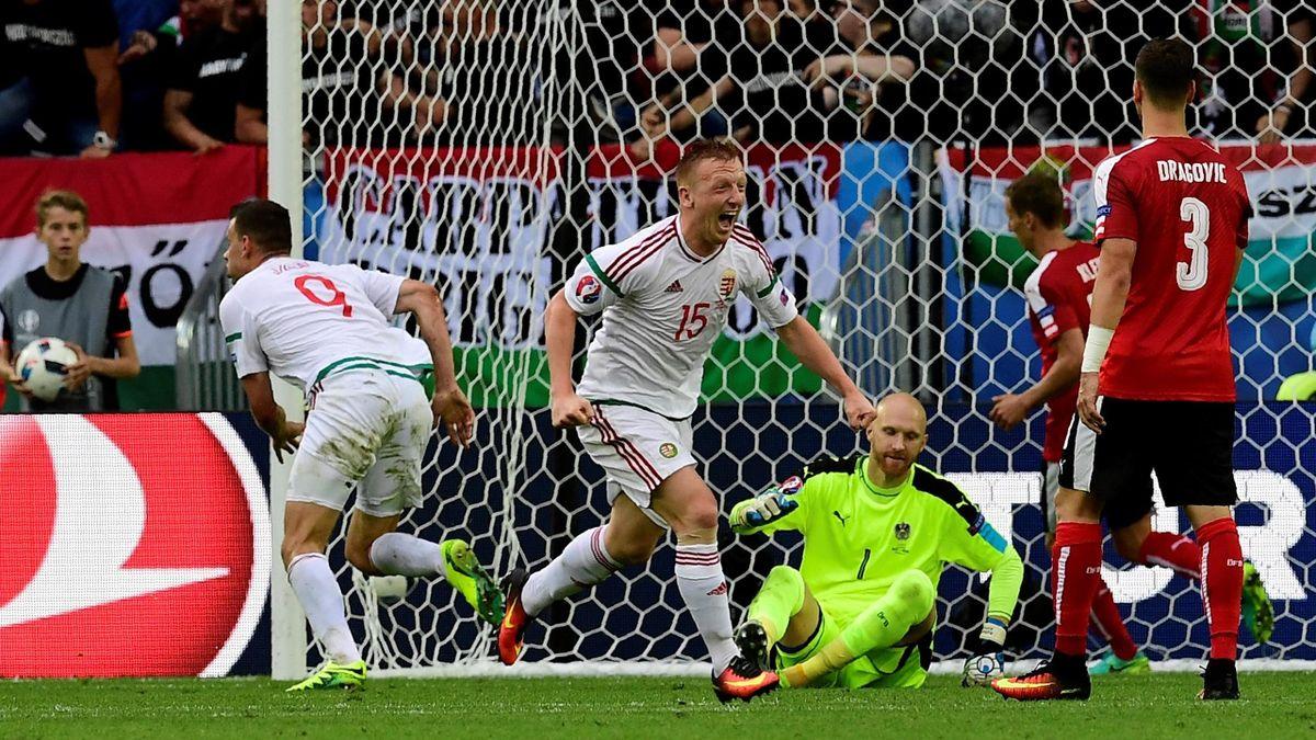 Adam Szalai (Hongrie) buteur face à l'Autriche - Euro 2016