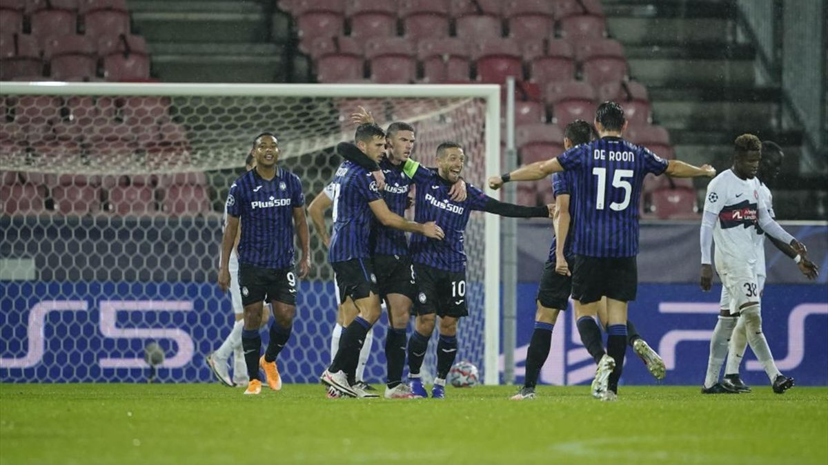 Esultanza dell'Atalanta in Champions League, Day 1