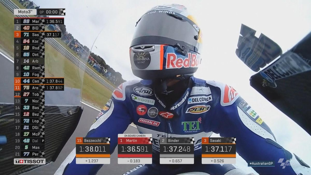 Australian Grand Prix: Moto 3 QP - Pole position Martin