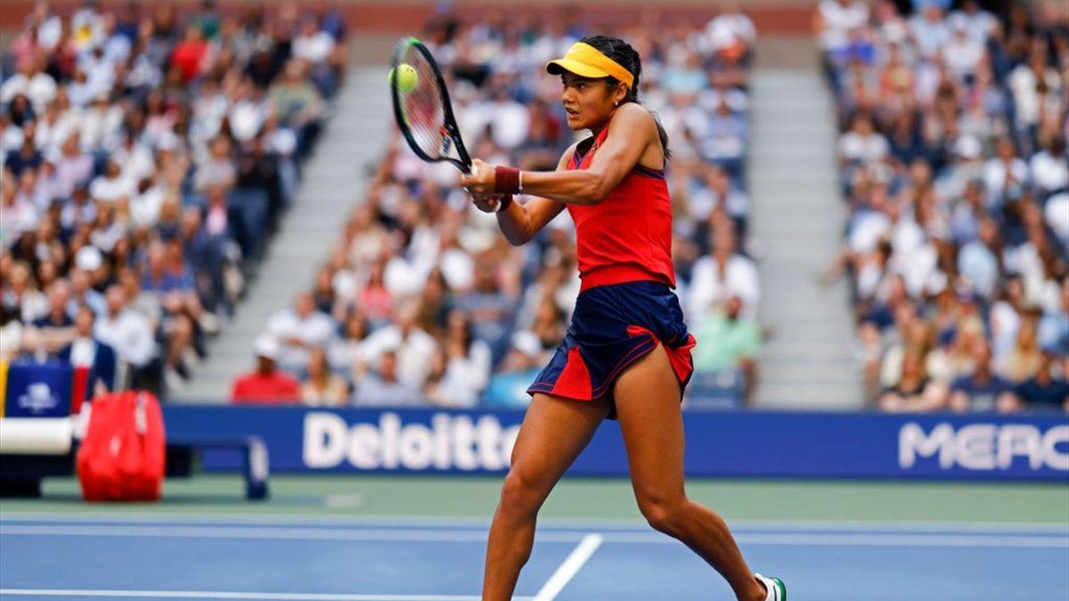 Emma Raducanu bei den US Open 2021