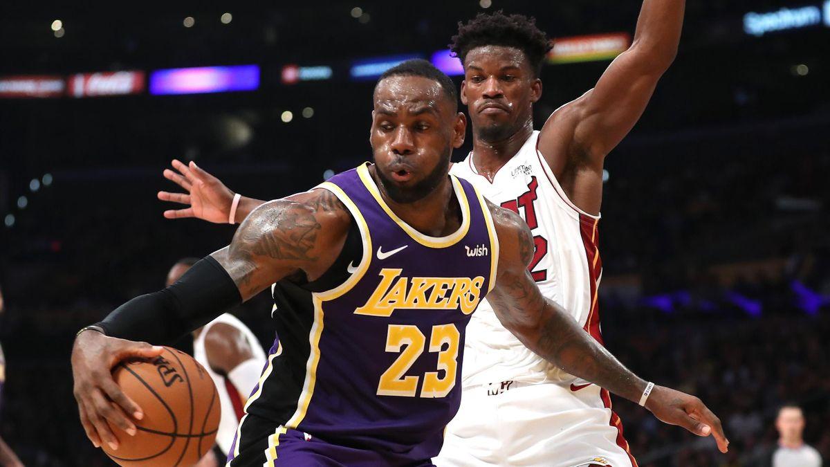 LeBron James e Jimmy Butler, LA Lakers-Miami Heat, NBA 2019-20