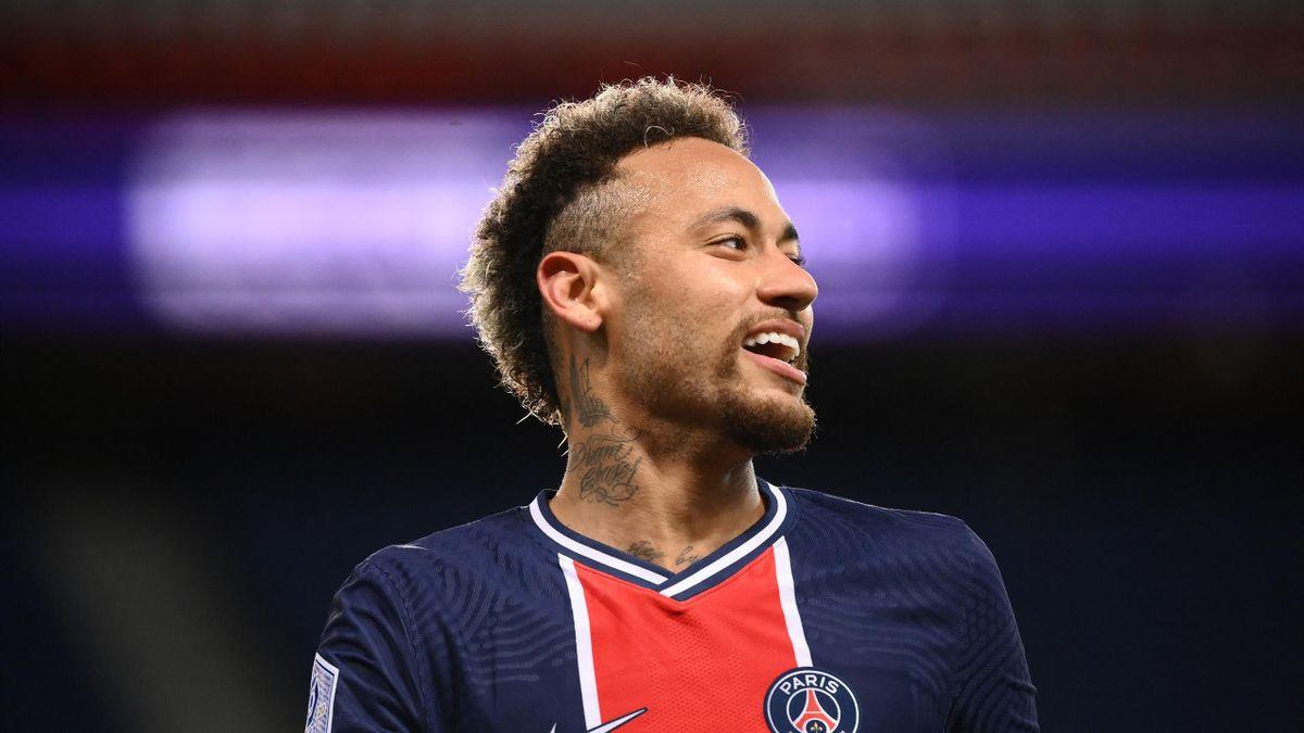 Neymar (PSG), lors de la 37e journée de Ligue 1, face à Reims