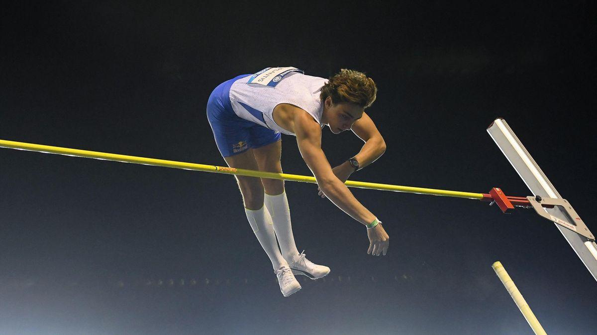 Armand Duplantis a Gyémánt Liga-sorozat brüsszeli versenyén, 2021. szeptember 3-án.