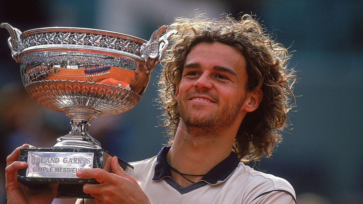 Gustavo Kuerten à Roland-Garros.