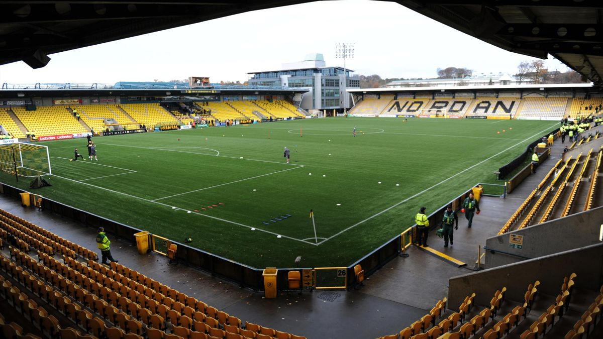 LIVINGSTON, SCOTLAND - NOVEMBER 11: A general view of The Toni Macaroni stadium before the Ladbrokes Premiership match between Livingston and Celtic at Tony Macaroni Arena on November 11, 2018 in Livingston, Scotland.