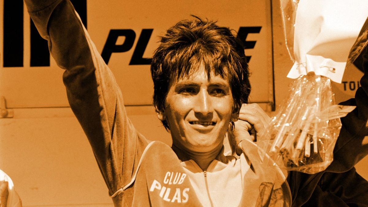 Colombia's Luis 'Lucho' Herrera - the first South American to win a Grand Tour (La Vuelta a Espana 1987)
