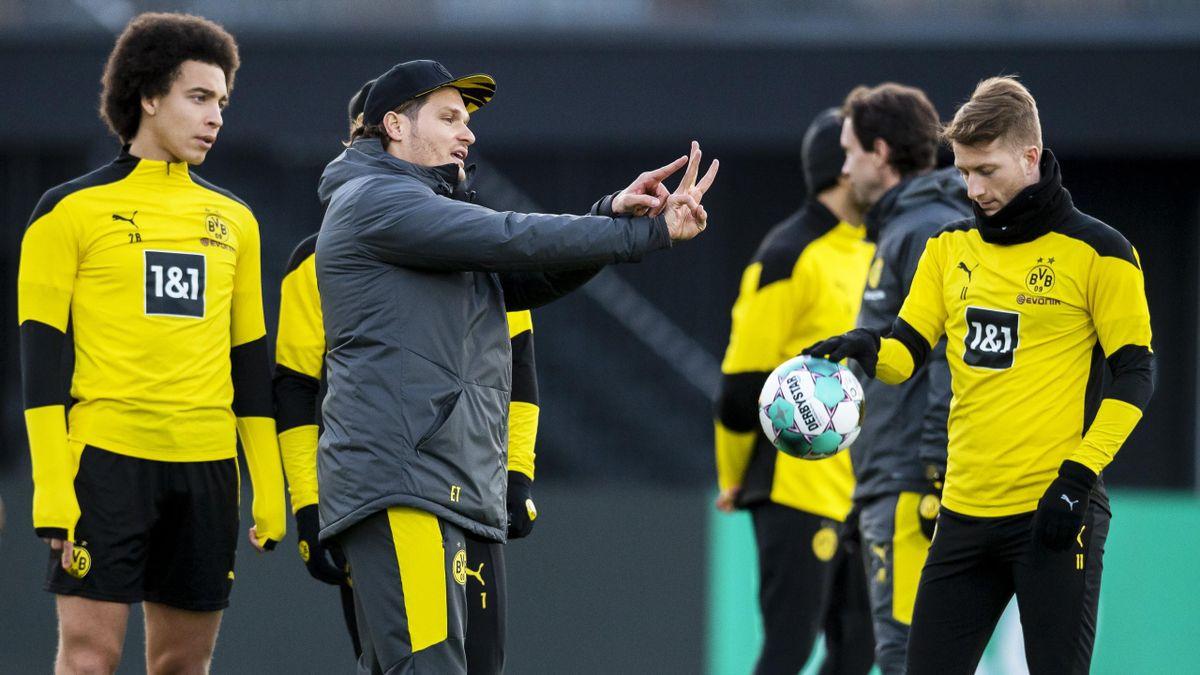 BVB-Coach Terzic im Training mit Witsel, Reus und Co.
