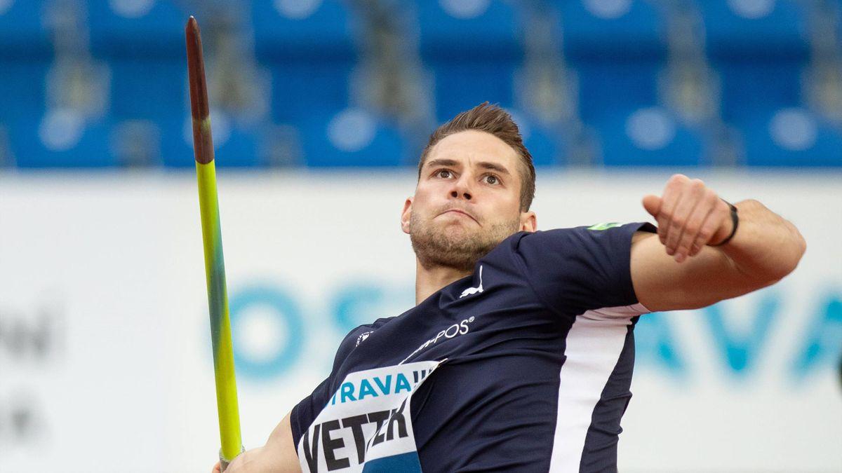 Kratzte bei der Team-EM am deutschen Rekord: Speerwerfer Johannes Vetter