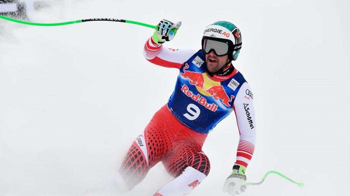 Vincent Kriechmayr jubelt in Kitzbühel