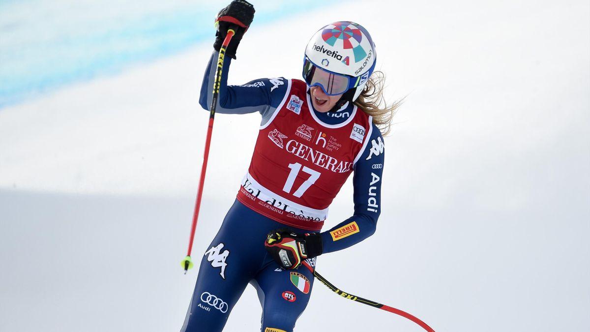 Marta Bassino esulta per il successo a Kranjska Gora, Getty Images