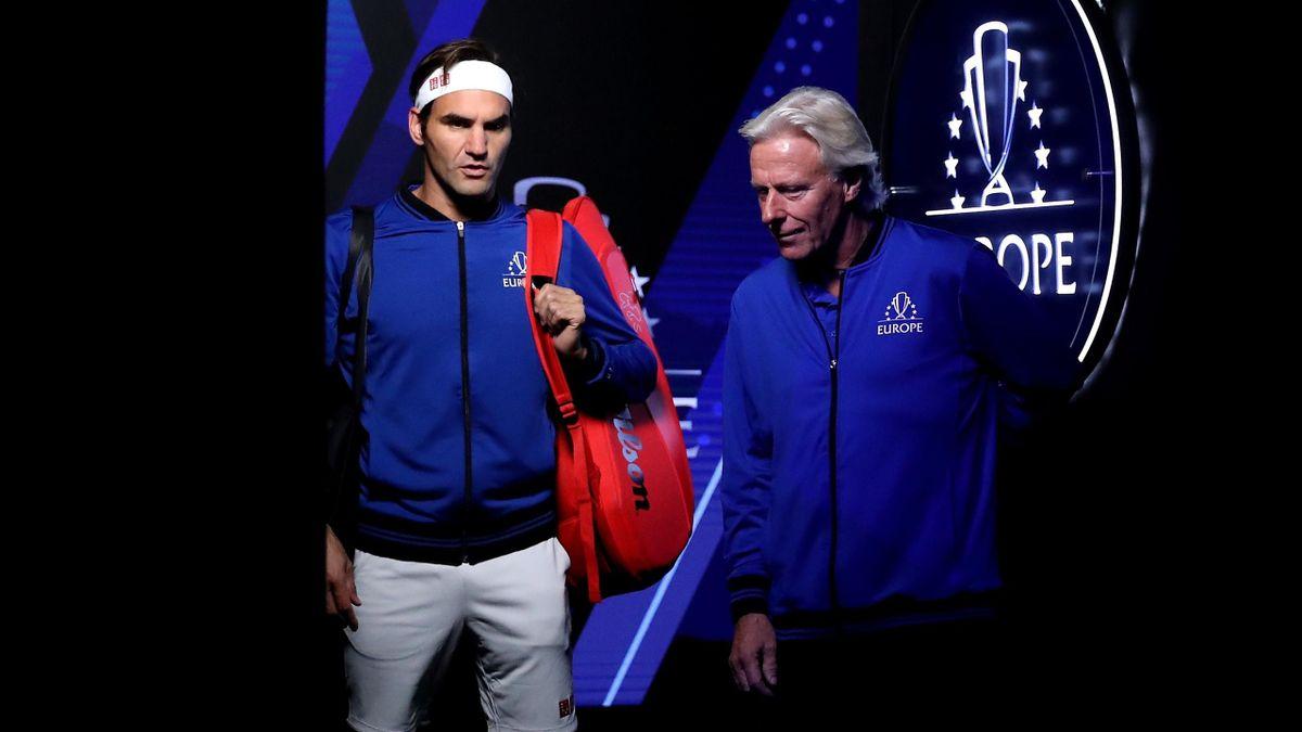 Roger Federer y Bjorn Borg