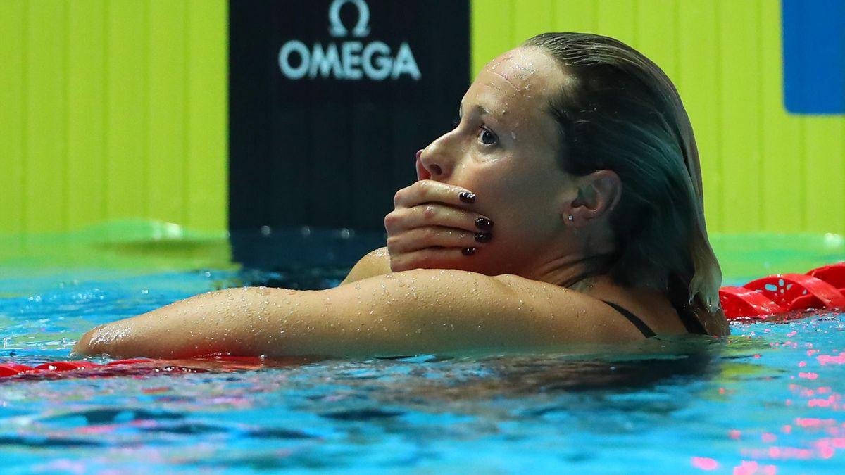 Federica Pellegrini senza parole dopo il quarto oro iridato, Getty Images