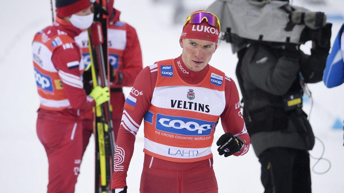 Alexander Bolschunow beim Weltcup in Lahti
