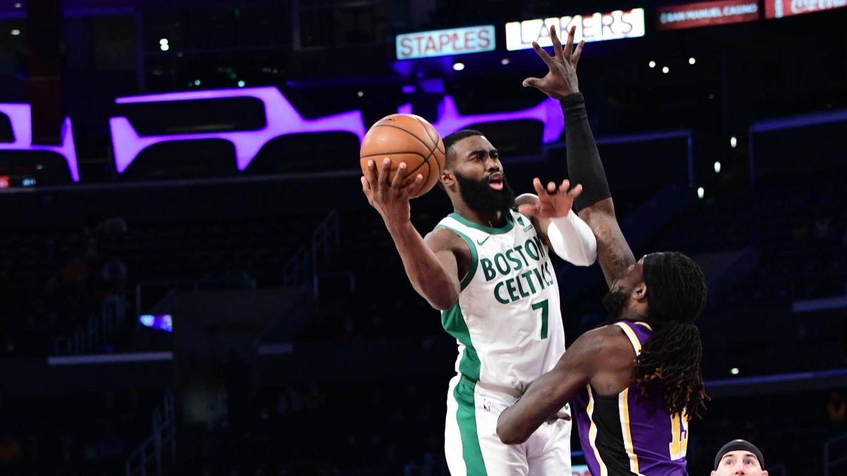 Jaylen Brown mattatore del successo dei Celtics sul campo dei Lakers