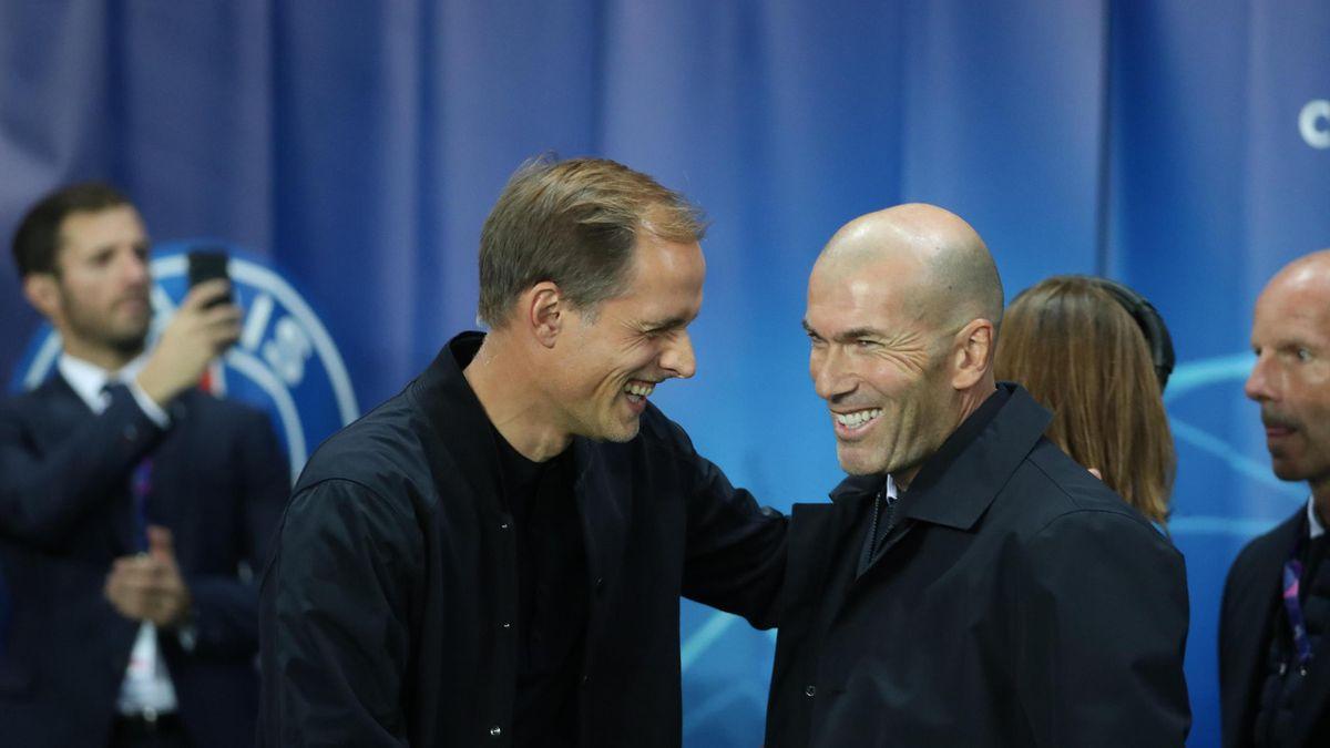 Thomas Tuchel et Zinédine Zidane