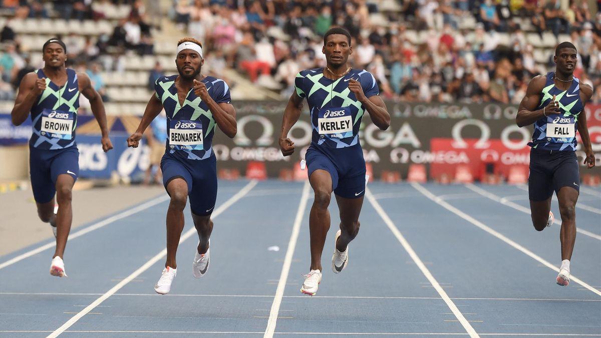 L'Américain Fred Kerley s'est imposé sur 200 m, samedi lors du meeting de Paris - 28 août 2021