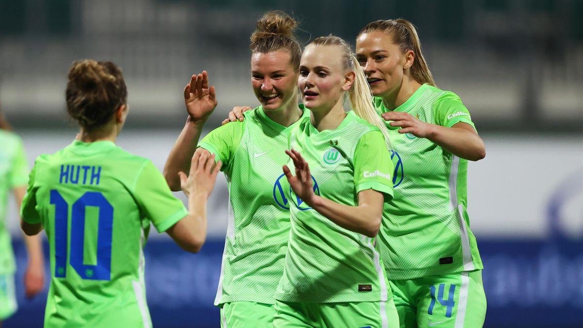 Die Frauen des VfL Wolfsburg stehen im Champions-League-Viertelfinale