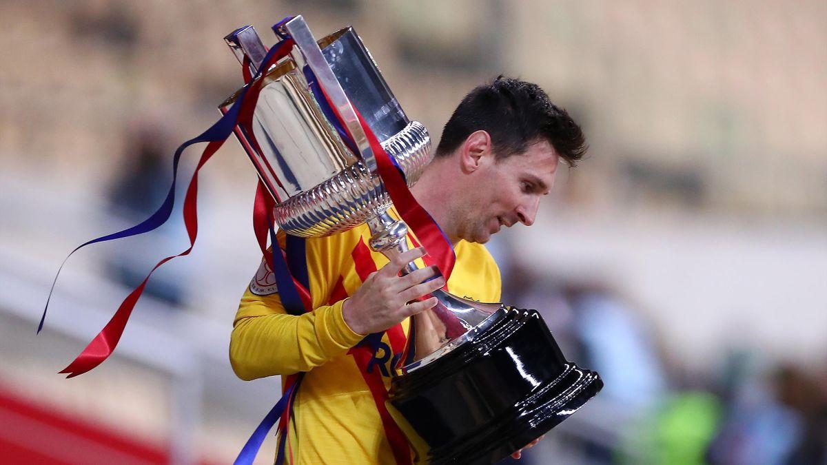 Messi (Barcelona) levanta la Copa del Rey