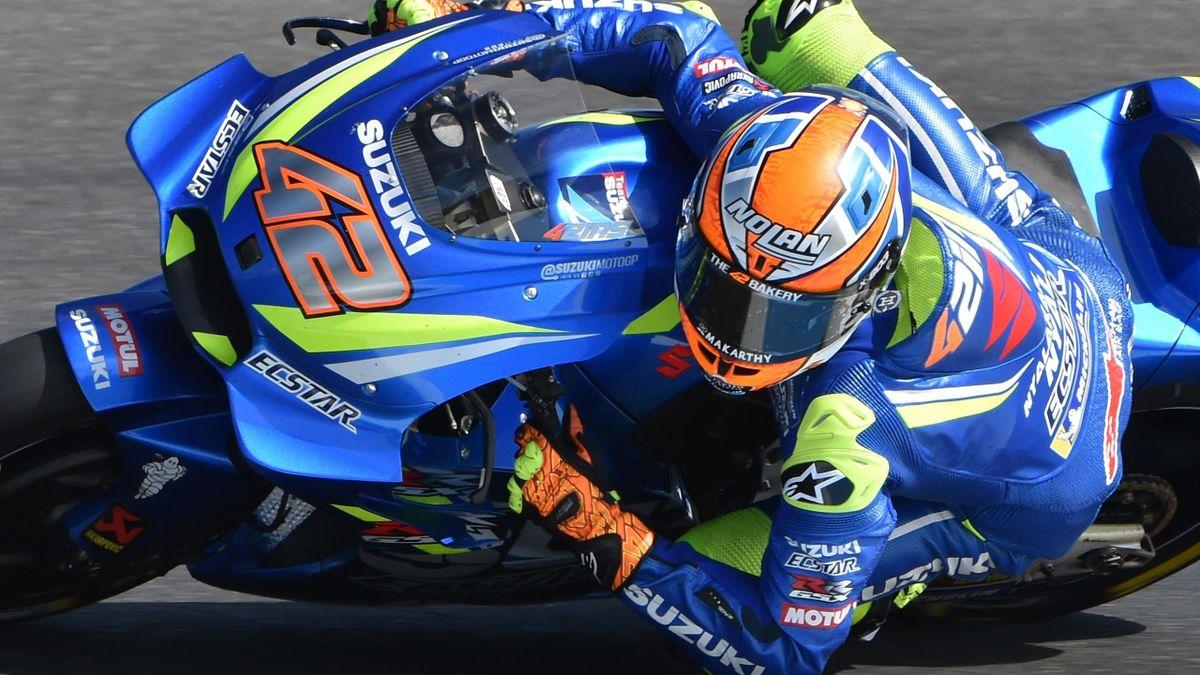 Alex Rins (Suzuki Team) au Grand Prix d'Australie 2018