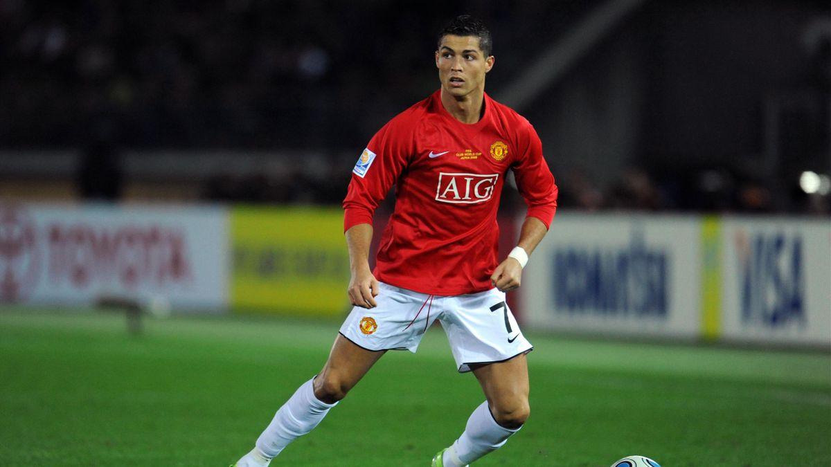 Cristiano Ronaldo con lo United