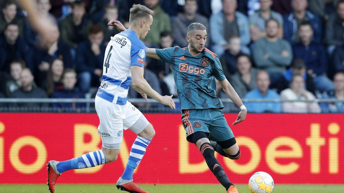 Hakim Ziyech mit Ajax Amsterdam bei De Graafschap