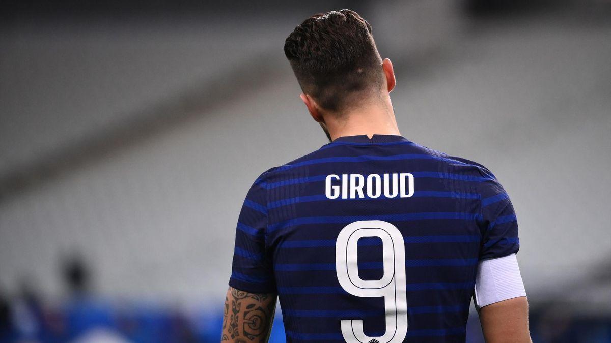 Olivier Giroud (France) en difficulté en équipe de France