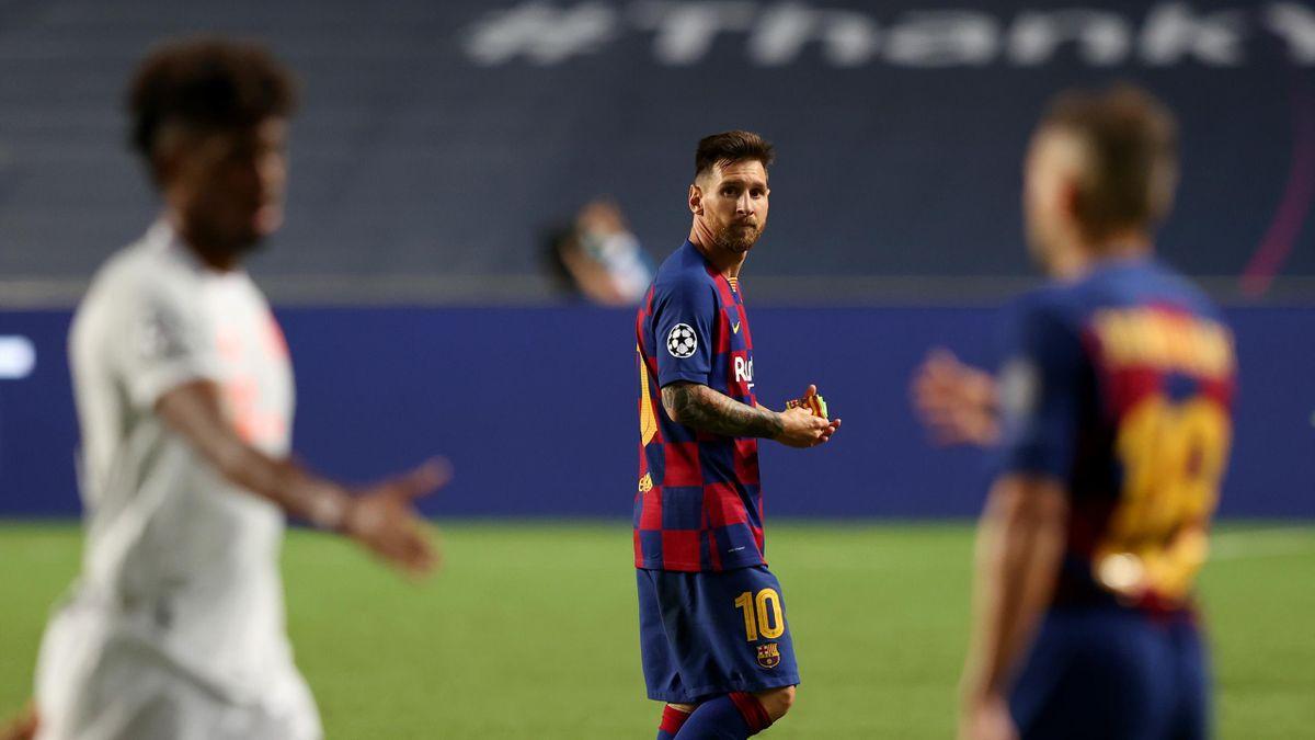 Lionel Messi après la raclée subie par le Barca face au Bayern (2-8) en quarts de finale de la Ligue des champions