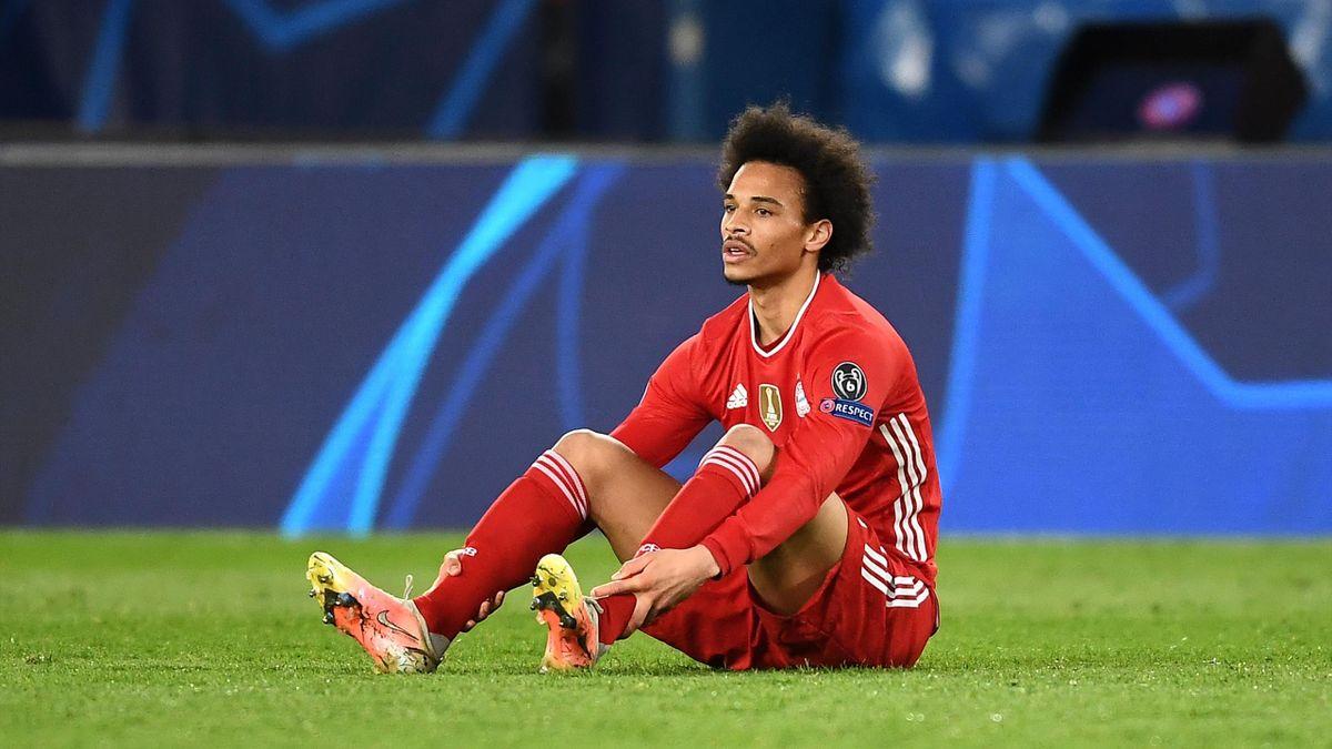 Leroy Sané (FC Bayern) nach dem Champions-League-Aus gegen Paris Saint-Germain