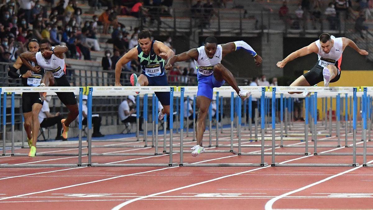 Le Jamaïcain Omar McLeod, champion olympique en titre, a signé la meilleure performance de l'année sur 110 m haies à Florence