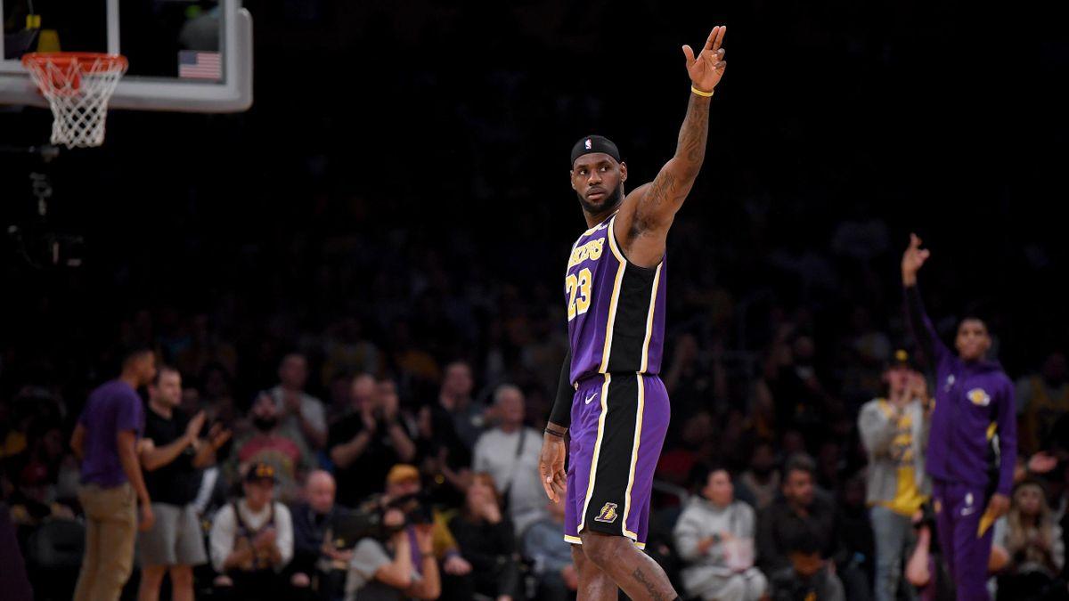 LeBron James avec les Los Angeles Lakers en NBA