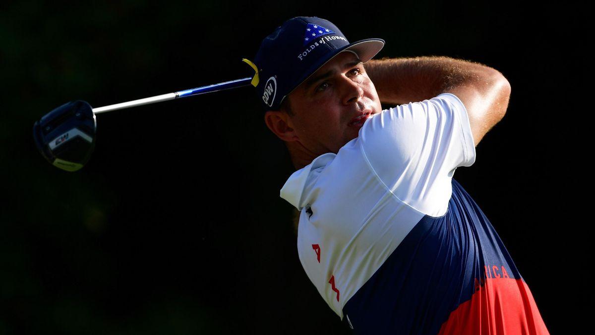 Gary Woodland lors du 1er tour du championnat de la PGA