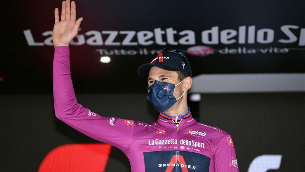 Filippo Ganna con la maglia ciclamino - Giro d'Italia 2021 - Getty Images