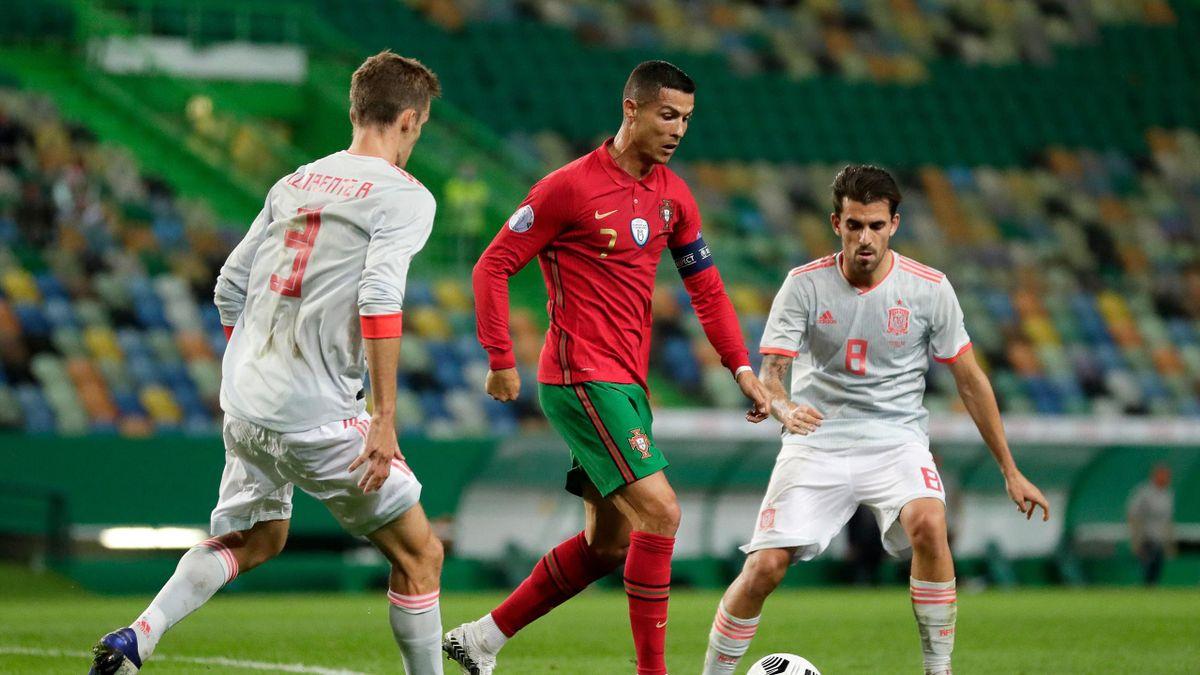Cristiano Ronaldo lors du match amical Portugal-Espagne