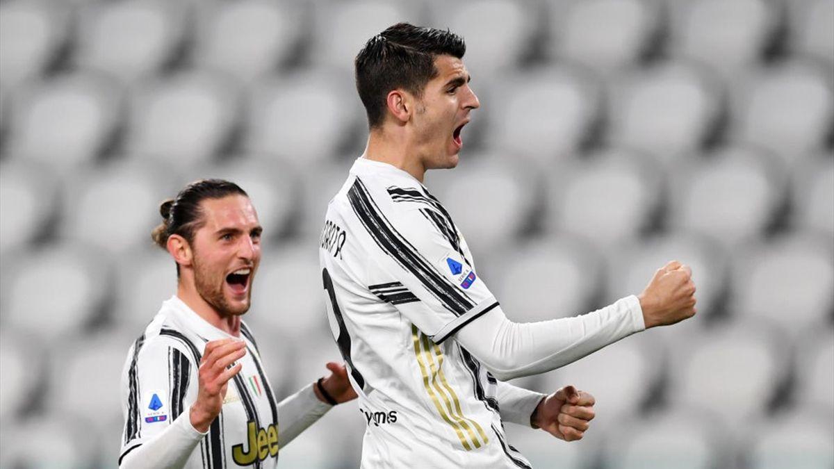 Alvaro Morata - Juventus-Lazio Serie A 2020-21