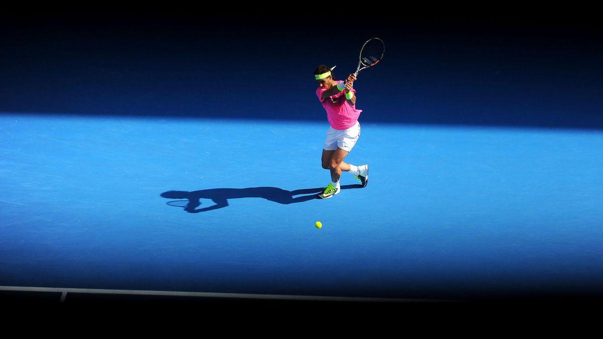 Rafael Nadal lors de l'Open d'Australie
