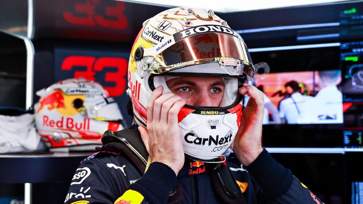 Max Verstappen im dritten Training in Barcelona vor Lewis Hamilton