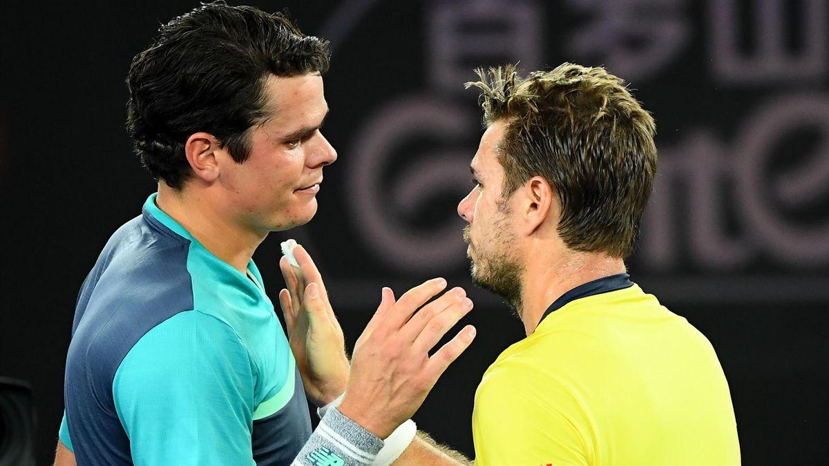 Milos Raonic et Stan Wawrinka à l'Open d'Australie 2019