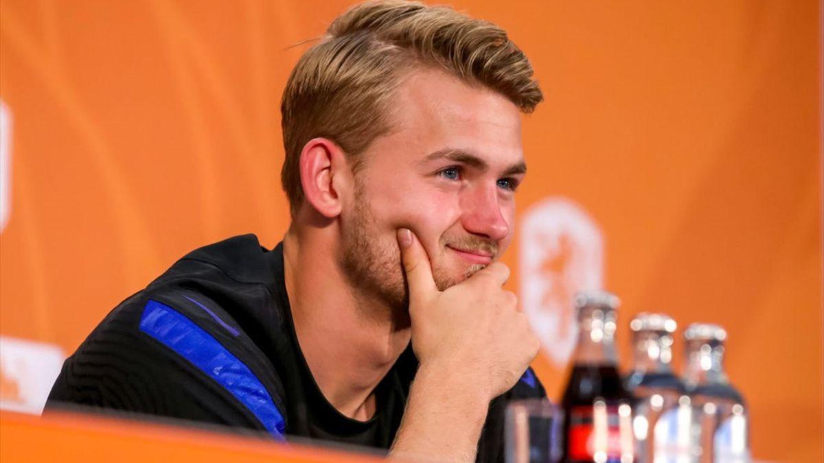 Matthijs de Ligt in conferenza stampa - Europei 2021