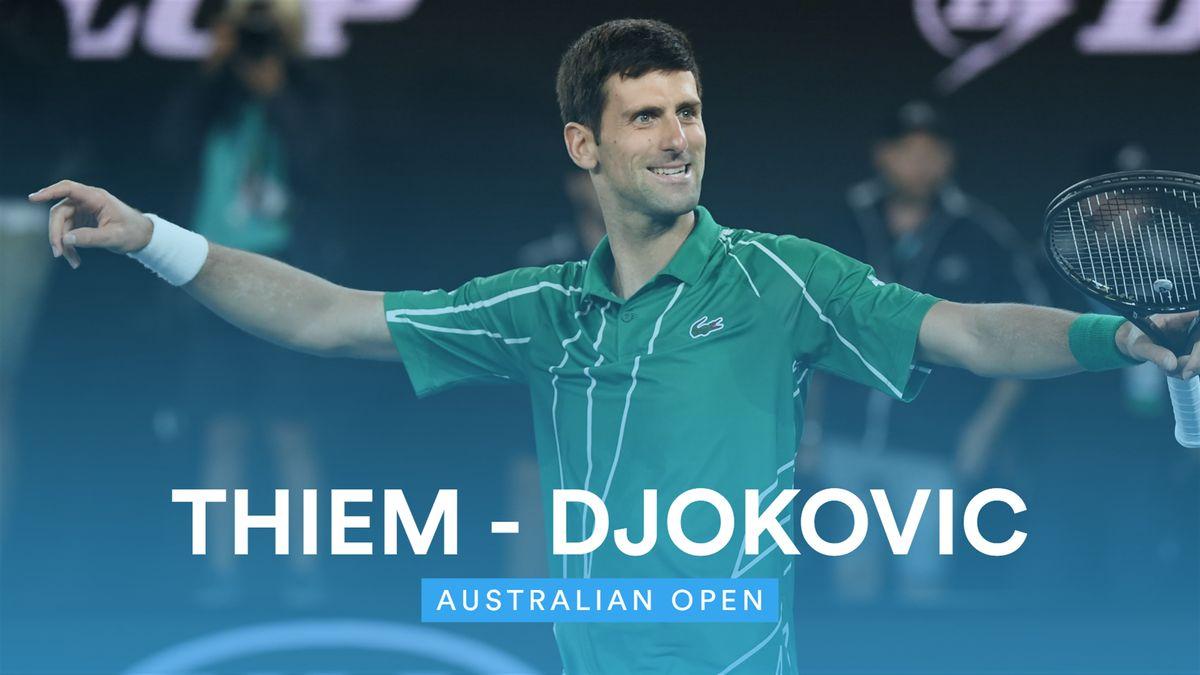 Australian Open: Highlights Djokovic - Thiem (short version - multi langages version)