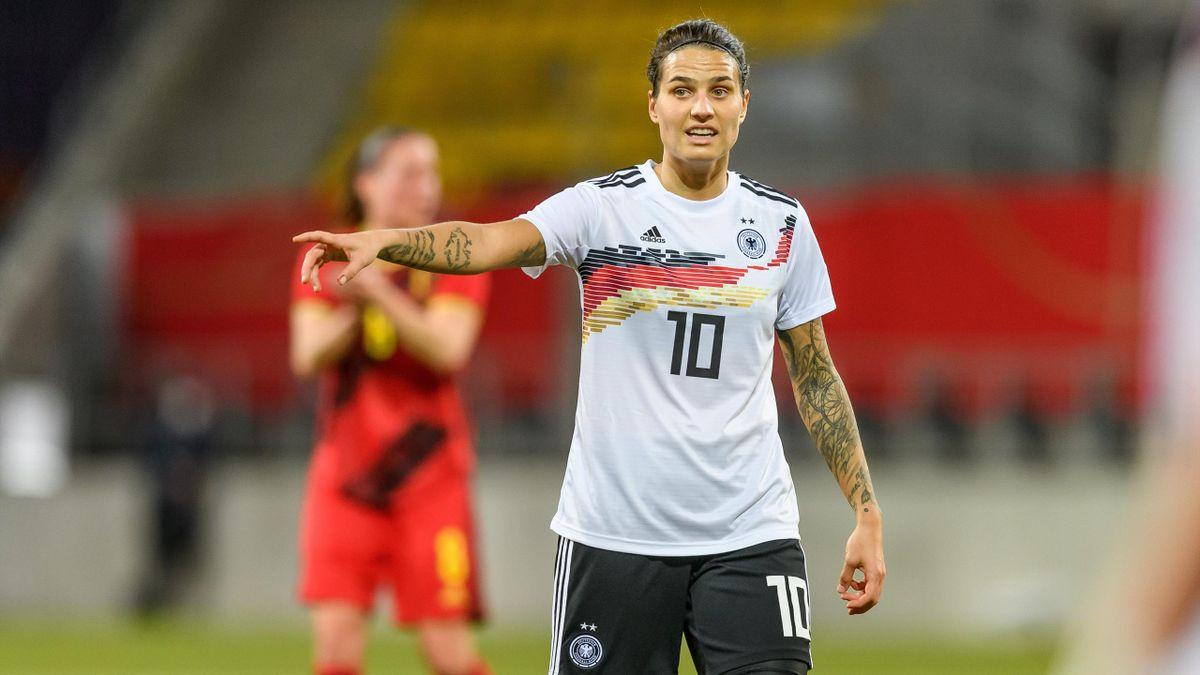 Dzsenifer Marozsan (Deutschland) im Spiel gegen Belgien
