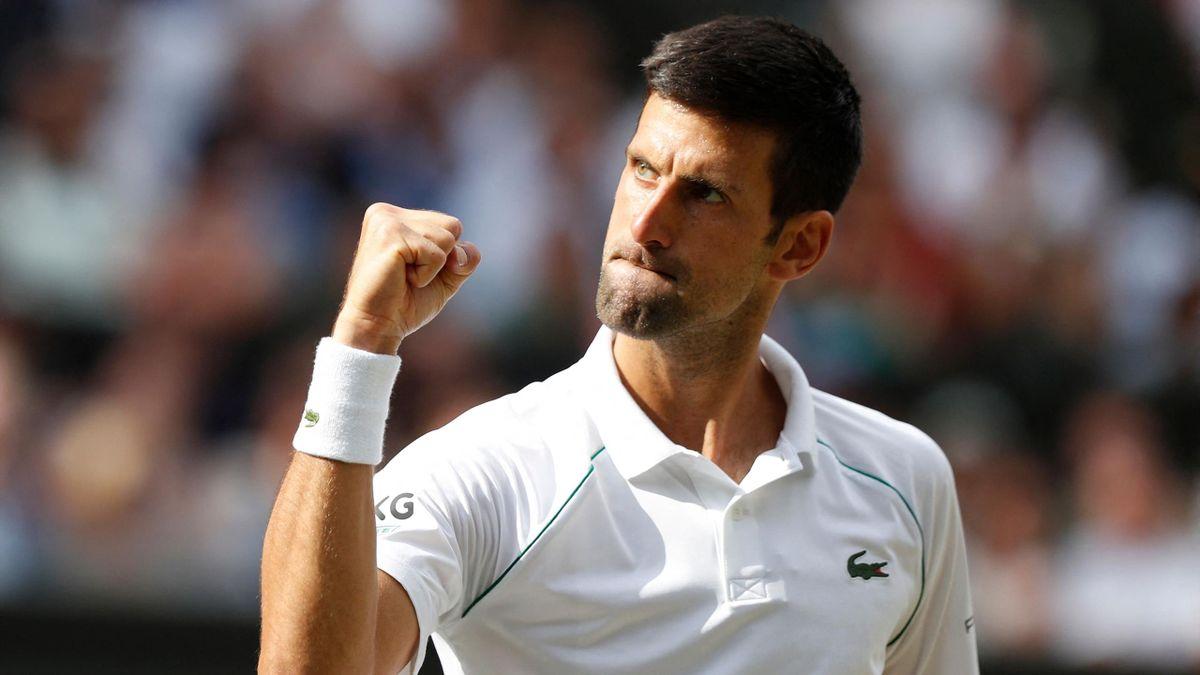 Novak Djokovic en finale de Wimbledon 2021